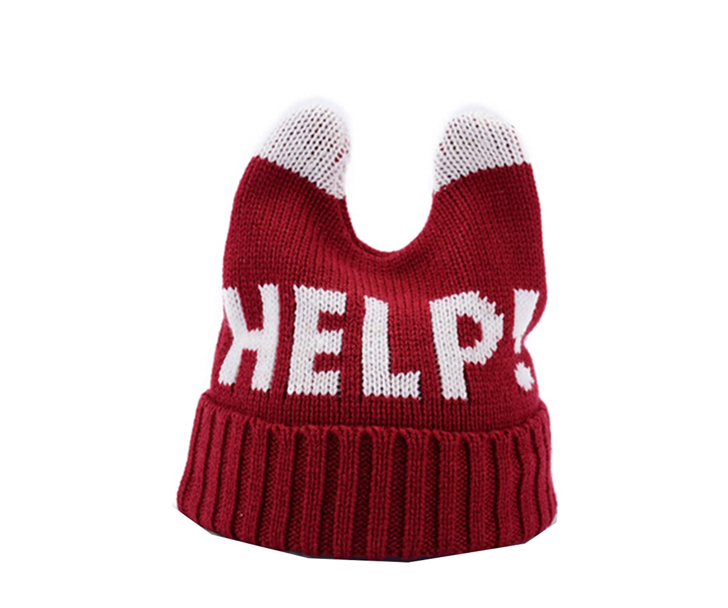 Km Women Autumn Fashion Boyish Warmth Hat Help Letter Cap