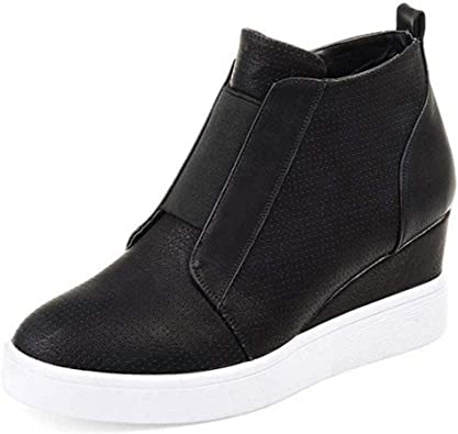 Wedge Sneakers Platform Perforated High