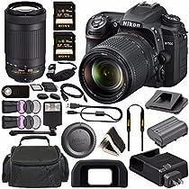Nikon D7500 DSLR Camera with 18-140mm Lens 1582 + Nikon AF-P DX NIKKOR 70-300mm f/4.5-6.3G ED Lens + Sony 128GB SDXC Card + Digital Slave Flash + HDMI Cable + Carrying Case + Remote Bundle