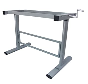 Charming Manual Height Adjustable Standing Desk Base Frame, Stand Up Sit Down Table  Workstation Legs,