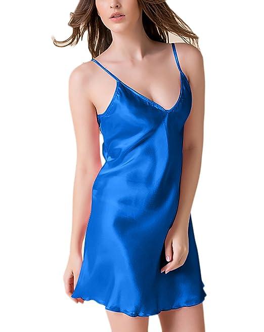 Las Mujeres Vestidos Pijamas De Cortas Verano Atractivo Tallas Grandes Sundress Sin Mangas V Cuello Vestido