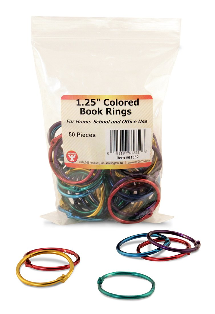 Amazon.com: Hygloss Products Book Rings – 1 Inch Assorted Colored ...
