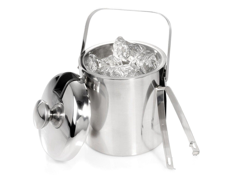 2222 Seau /à glace en acier inoxydable avec couvercle et pince