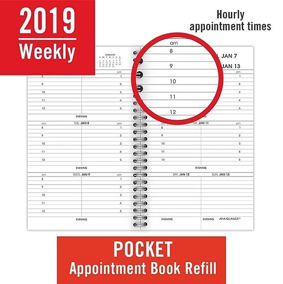 Amazon.com: AT-A-GLANCE Agenda semanal de citas, enero 2019 ...