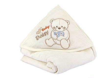 Baby Toalla con capucha oso Toalla con manopla beige beige Talla:85 x 85 cm