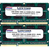 8GB (4GB x 2) DDR3-SDRAM PC3-8500 1066MHz 2rx8 1.5v CL7 204-pin SO-DIMM 8 GB Memory Ram for Apple or PC Laptops