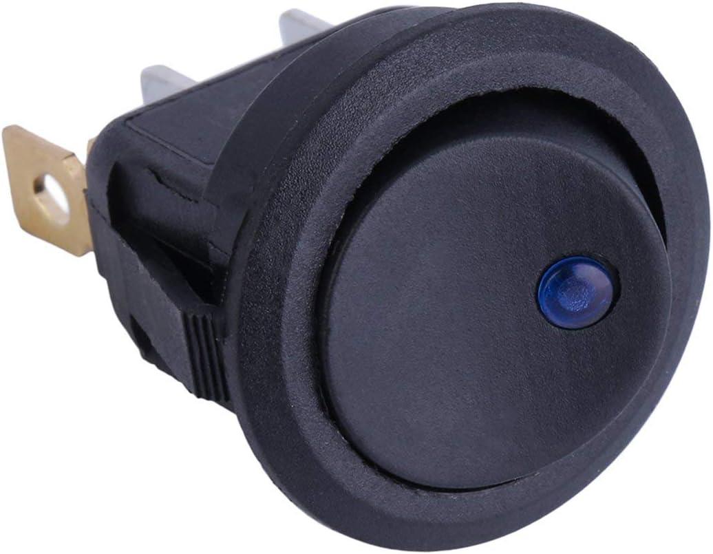 Dailyinshop/® Haute qualit/é 20pcs LED Dot Light 12V Voiture Auto Bateau Rond /à Bascule Interrupteur /à Bascule Forme Ronde Noir