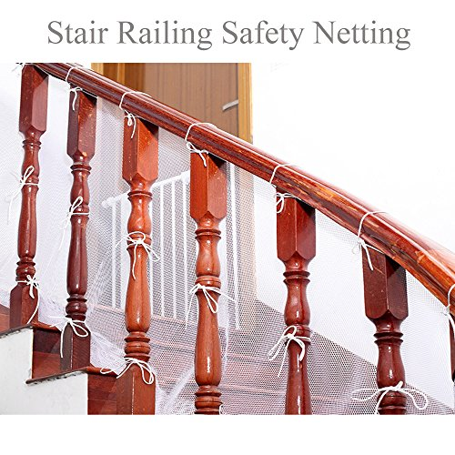 Joylish 10Ft Baby Stair Railing Safety Net - Indoor Outdoor Balcony Guard for Toddlers & Pet, Easy to Install by Joylish (Image #2)