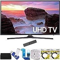 Samsung UN40MU6300FXZA 40 4K Ultra HD Smart LED TV (2017 Model) Plus Terk Cut-the-Cord HD Digital TV Tuner and Recorder 16GB Hook-Up Bundle