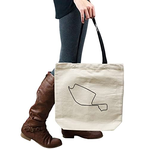Long Beach Grand Prix Track Map For car Racing Tote Handbag Shoulder Bag Purse