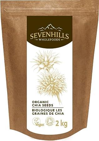 Sevenhills Wholefoods Semillas de Chia Crudas Orgánico 2kg: Amazon ...