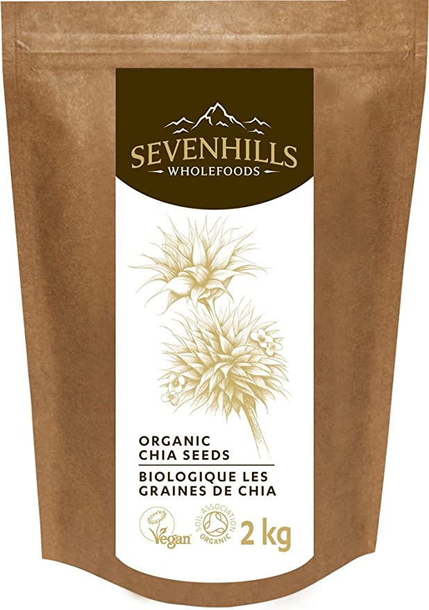Sevenhills Wholefoods Semillas de Chia Crudas Orgánico 1kg: Amazon ...