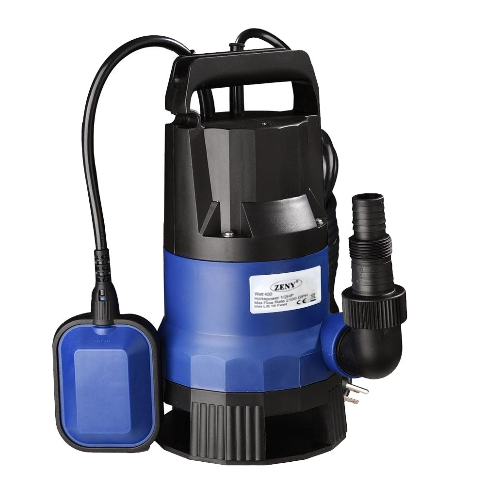 SUPER DEAL 1/2HP Submersible Clean/Dirty Water Pump 2000 GPH Swimming Pool Garden Tub Pond Flood Drain w/Float Switch and Extra Long 33ft Cable by SUPER DEAL