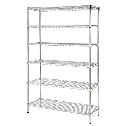 amazon com hdx 48 in w x 72 in h x 18 in d decorative wire rh amazon com decorative wire shelf decorative wire shelving units