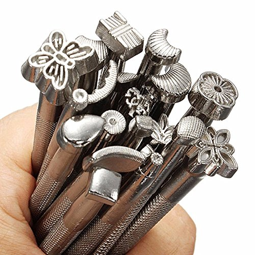 Angelwing Alloy Leather Stamps Set Tools DIY Leather Working Saddle Making