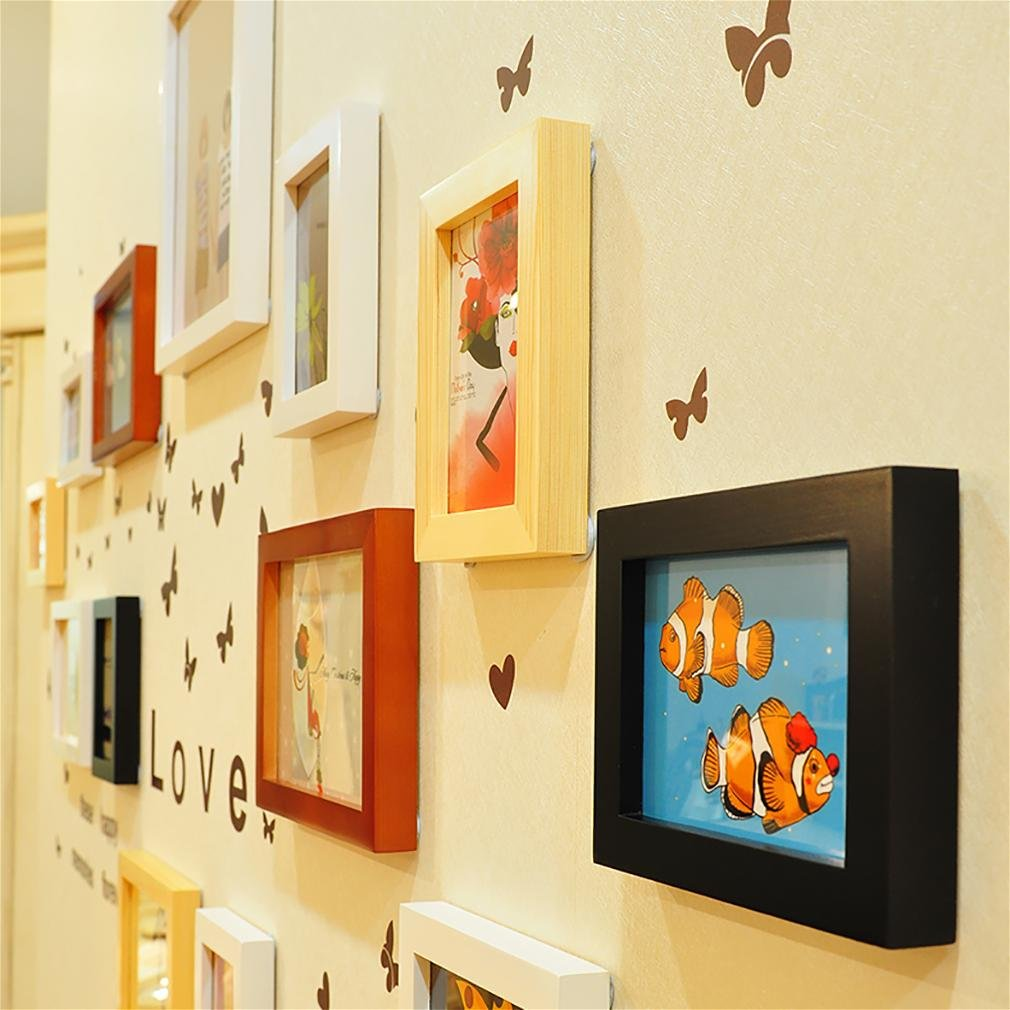 WillST Multi Picture Photo Frames Home Wall Decoration Wooden Frame Set Of 13pcs Picture by Unknown (Image #3)