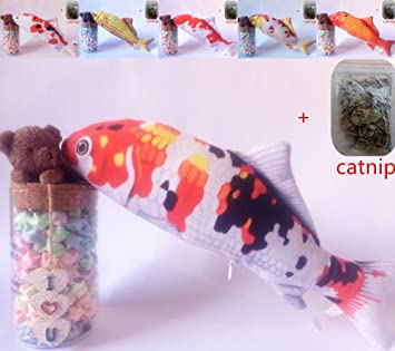 Maibar hierba gatera juguete para gatos pescado juguetes gatos 3D inteligencia mariposa gatos hierba gatera Interactivo para gatos de interior: Amazon.es: ...