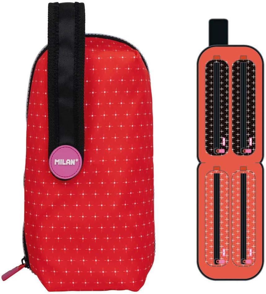 MILAN Kit 4 Estuches con Contenido Zum Zum, Rojo: Amazon.es: Oficina y papelería