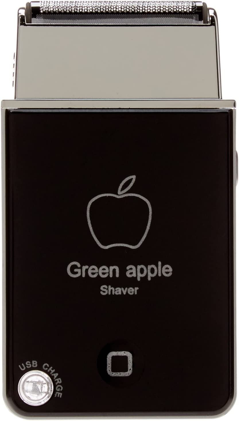 Green Apple Shaver Rscw-1880 Shavetech USB Rechargeable Travel Razor (Black)