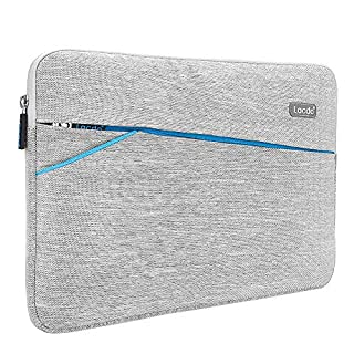 """Lacdo 15.6 Inch Laptop Sleeve Computer Case for 15.6"""" Lenovo Ideapad 330, Acer Aspire 5, E 15, Flagship, Asus TUF FX505, ASUS VivoBook, Dell Inspiron, HP Pavilion Notebook Bag, Water Repellent, Gray"""