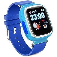 KOSCHEAL Reloj Inteligente para Niños,Reloj Inteligente para niños con pantalla táctil de 1.22 pulgadas, IPS UI dynamic, Pantalla con WiFi, Llamada Bidireccional, Podómetro ,Chat De Voz, GPS, para iOS y Android (Azul)