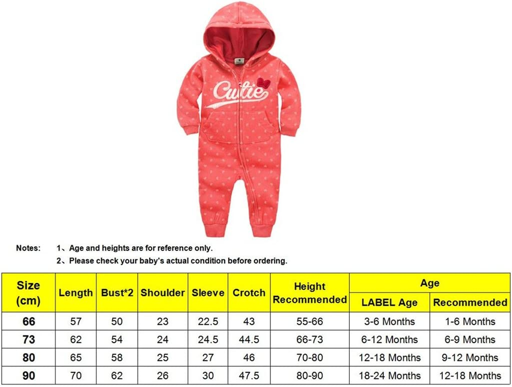 1-6 Months Vine Hooded Romper for Baby Newborn Cotton Long Sleeve Bodysuits Zipper Outfits Green 66