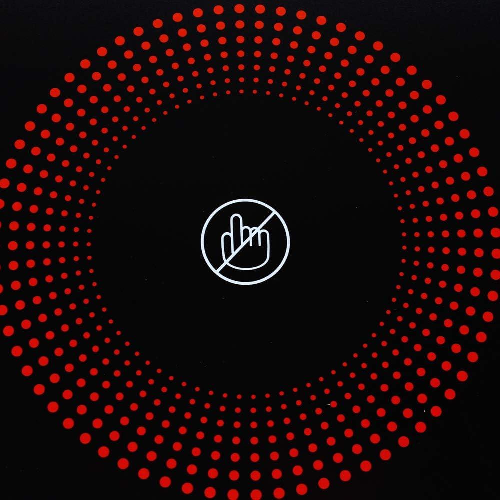 Herdplatten Elektrisch mit Automatische Thermostatregelung /Überhitzungsschutz Smart Touch und Timing Design 2200W Infrarot-Herdplatte mit Explosionsgesch/ützte schwarze Kristallplatte