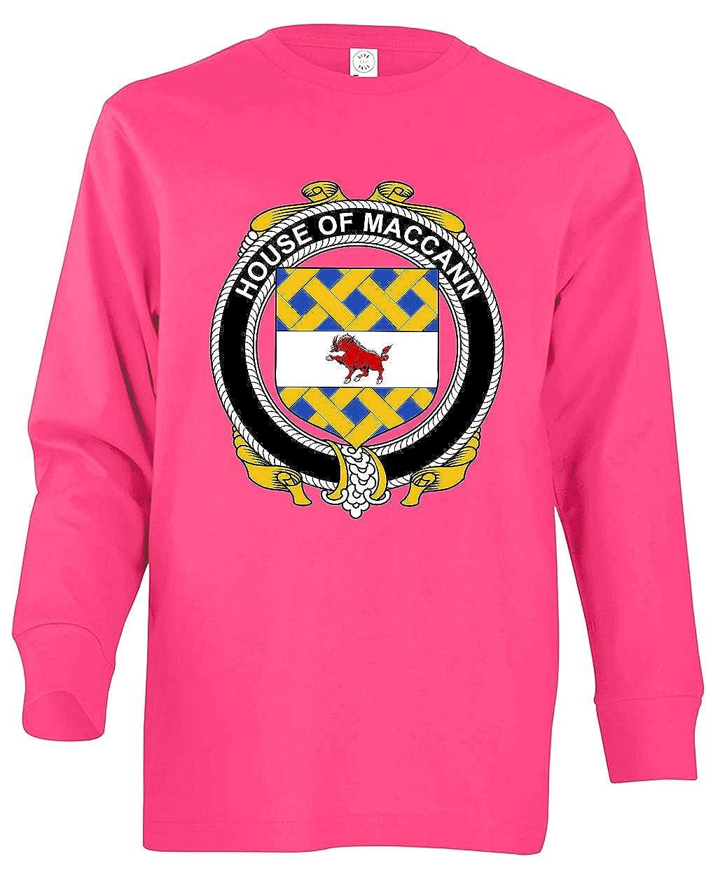 Tenacitee Boys Youth Irish House Heraldry Maccann T-Shirt