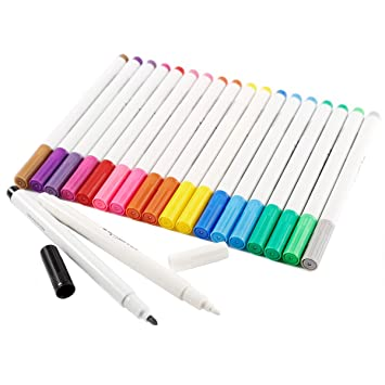 IDENA Textilmarker Wäschemarker Stoffmalstifte 10er-Set Textilstift WoW 60035