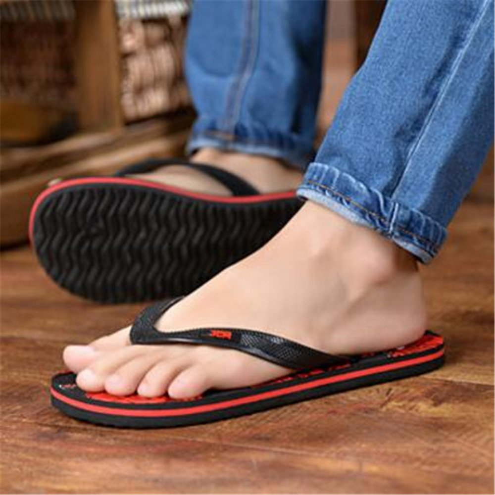 2018 New Summer Men Flip Flops Fashion Male Flat Bath Slippers Summer Sandals Indoor
