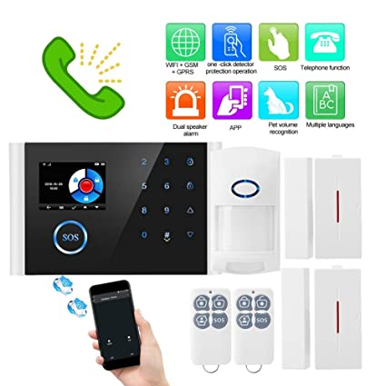 WiFi+GSM+GPRS Burglar Alarm System Security Wireless HD IP ...