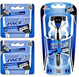 Dorco Pace 3- Three Razor Blade Shaving System- Value Pack (10 Cartridges + 1 Handle) offers