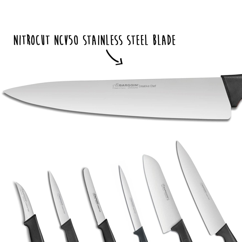 Fischer-Bargoin Creative Chef 6-piece Kitchen Knife Set + Knife Bag ...