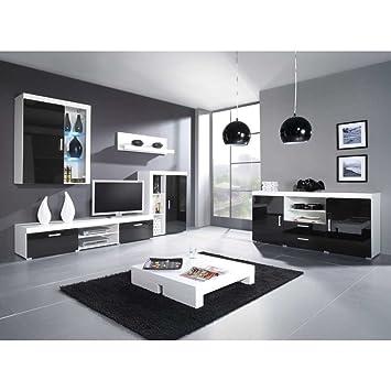 JUSTyou Conjunto Simba C Mueble de salón Comedor Blanco Negro ...