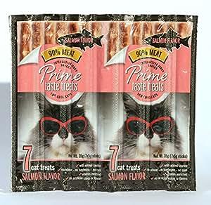 Prime Taste Treats Salmon Jerky Treat for Cats, Pack of 1, 35g (7x5g sticks)