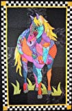 BJ Designs and Patterns Cheyenne Horse Applique Quilt Pattern Wall Hanging 29'' x 45''