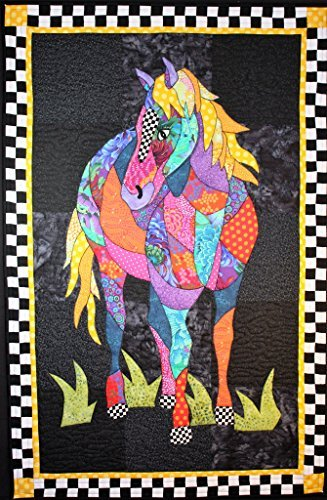 (BJ Designs and Patterns Cheyenne Horse Applique Quilt Pattern Wall Hanging 29