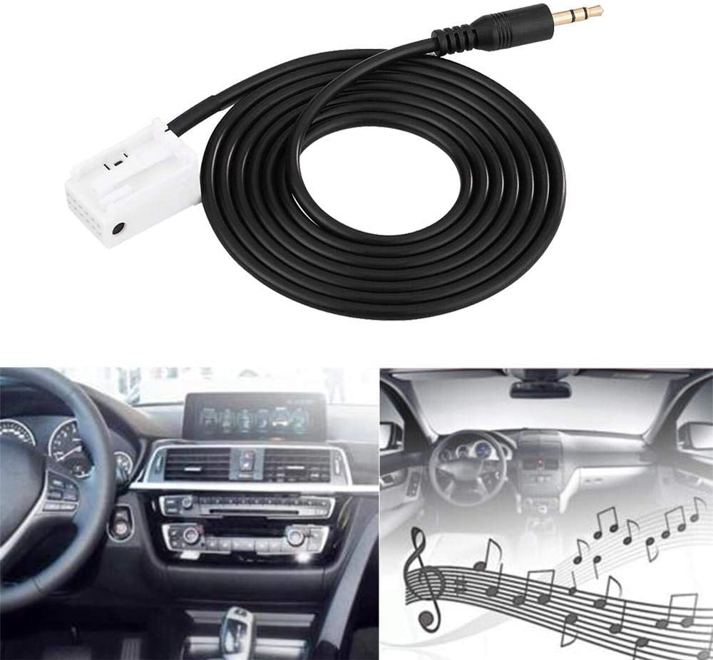Refaxi Car 3.5mm Male Audio AUX 12 pin Input Adapter Cable for Mercedes//Benz W203