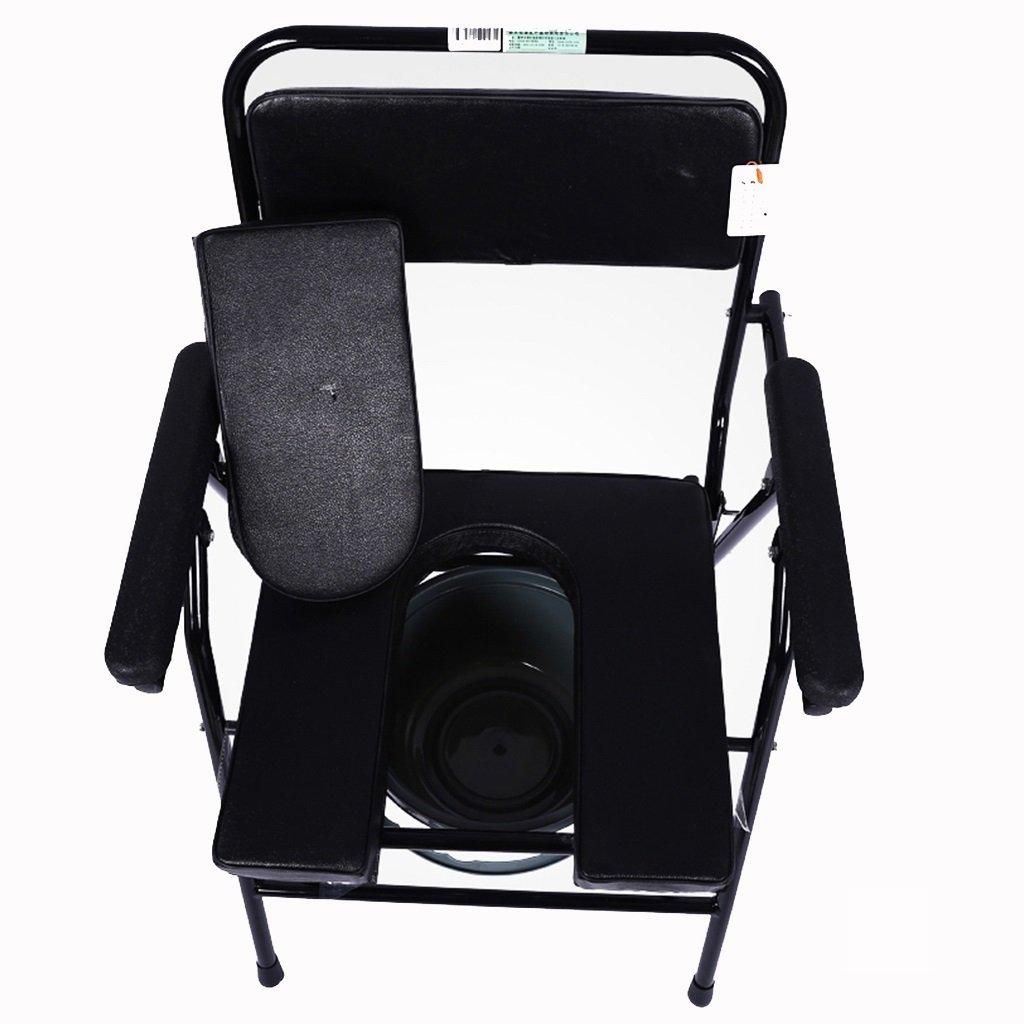 家庭用ステンレススチール折りたたみトイレ椅子高齢者ノンスリップ調節可能なバスチェア妊娠中の女性使用不可トイレスツールセーフティトイレ B07CM491J9