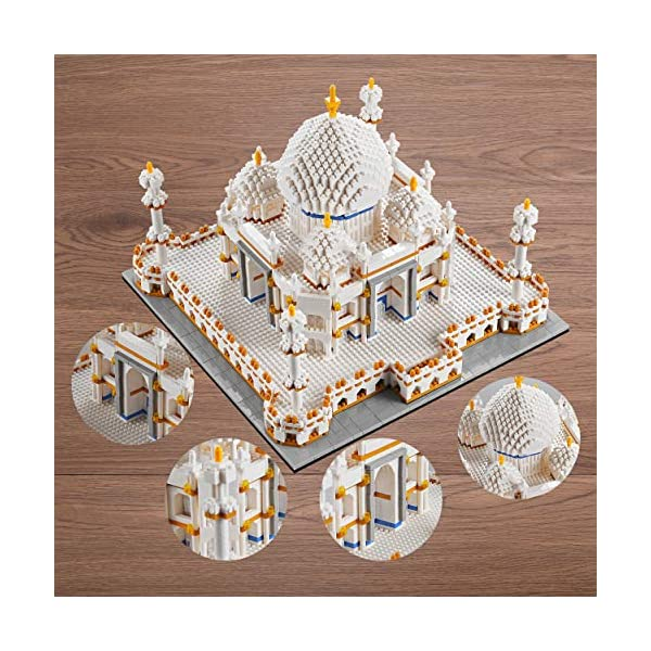 YaJie Architecture Collection: Taj Mahal Model Building Set for Adults, and Great Gift for Any Hobbyists,Micro Block…