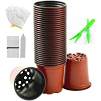 BRIDGEGUO [120Pcs] Seedling Nursery Pots Plastic Plant Pot Container Garden Seeds Starter Planter Flowerpot For…
