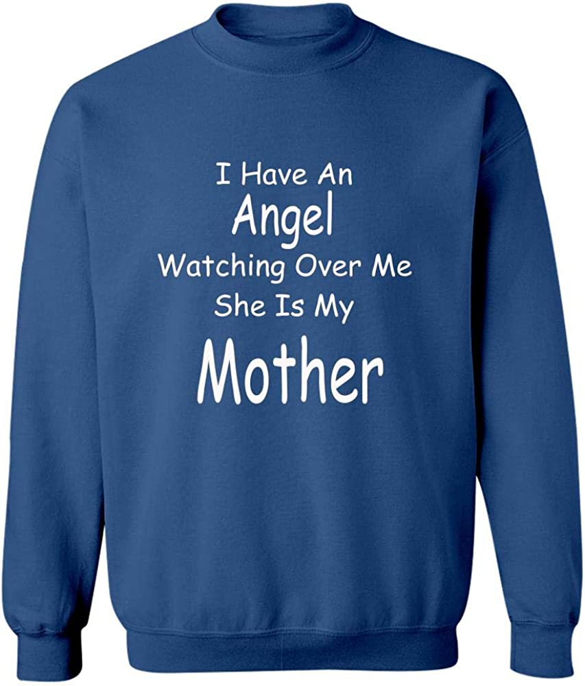 Angel Watching Over Me She is My Mother Sweatshirt Royal Blue