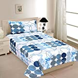 Zesture Bring Home Premium 144 TC Cotton Single Bedsheet with Pillow Cover - Multicolour