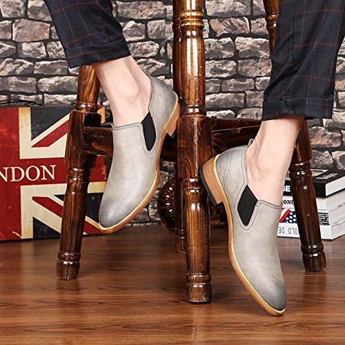 2018 Chaussures à Enfiler pour Hommes Richelieus Homme (Color : Gris, Taille : 38 EU)