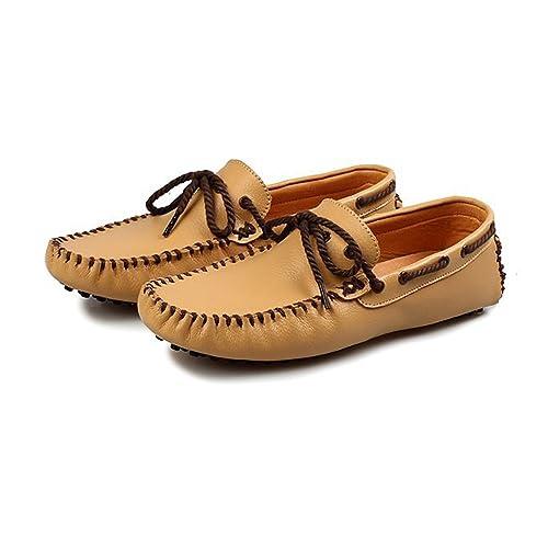 Zapatos para Hombre Mocasines de conducción de los Hombres de Color sólido con Cordones Penny Boat Shoes Studs Sole Leisure Moccasins Casuales: Amazon.es: ...