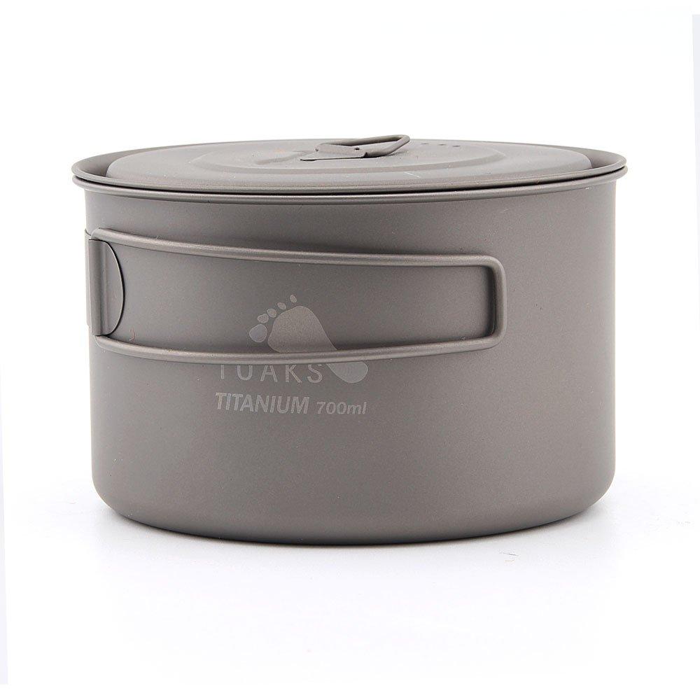 TOAKS pot-700-d115-l Ultralight Outdoor Camping Titan Topf 0,3mm Dicke Titan Tasse mit Deckel 700Ml