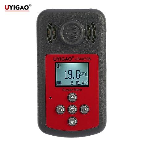 UYIGAO Mini Medidor de Oxígeno de Mano Portátil Detector de Monitor Probador de O2 Alta Precisión