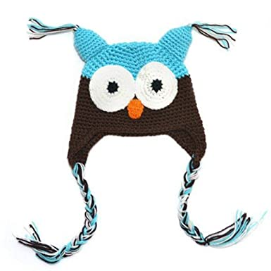 Amazon Locomo Baby Knit Beanie Crochet Hoot Owl Hat Cap Ear