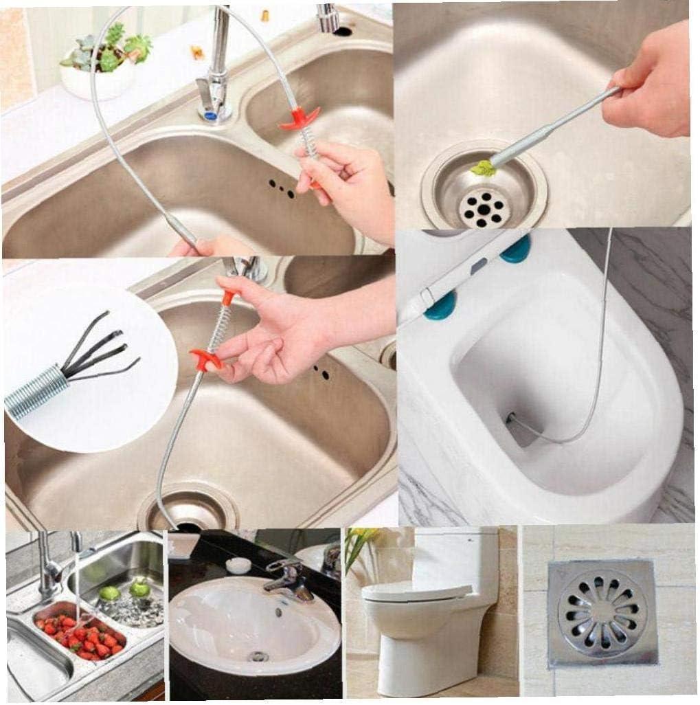 2 pezzi, 0.60 m strumento di pulizia di rimozione per vasca da bagno del lavandino della cucina Artiglio di pulizia multifunzionale attrezzo di dragaggio del tubo a molla