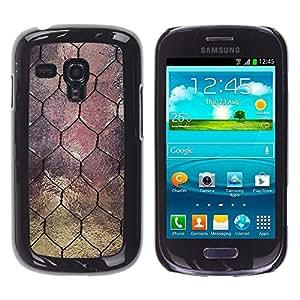 Caucho caso de Shell duro de la cubierta de accesorios de protección BY RAYDREAMMM - Samsung Galaxy S3 MINI NOT REGULAR! I8190 I8190N - Window Design Wire Architecture